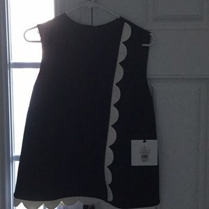 Black and white Victoria Beckham sleeveless top